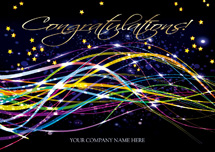 Beautiful Streamers Congratulations Cards